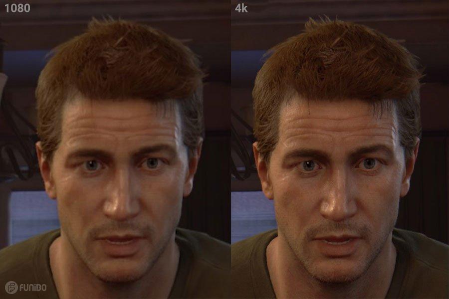 تفاوت تصویر 1080p و 4K در PS4 Pro
