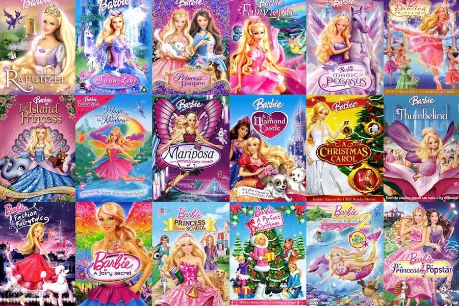 کارتون باربی - معرفی مجموعه کامل 38 فیلم Barbie
